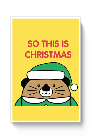 Posters Online | So This Is Christmas Poster Online India | Designed by: Pooja Bindal