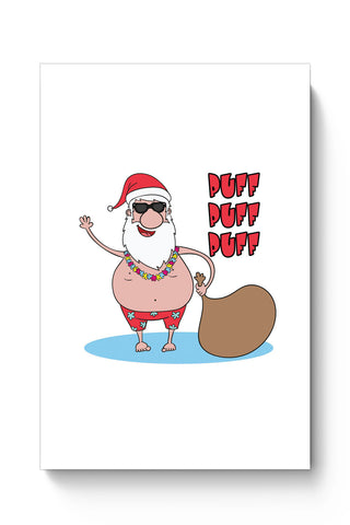 Posters Online | Puff Puff Puff Funny Santa Ho-HO-HO Parody Poster Online India | Designed by: Pooja Bindal