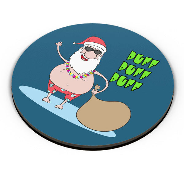 PosterGuy | Puff Puff Puff Funny Santa Ho-HO-HO Parody Fridge Magnet Online India by Pooja Bindal