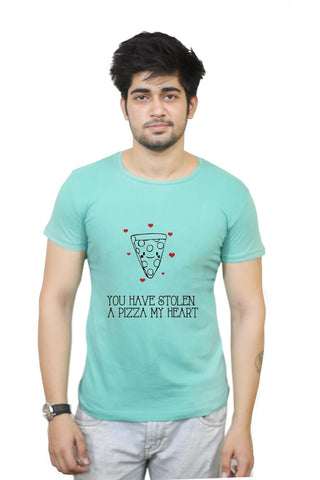 Buy You Have Stolen A Pizza My Heart | Valentine's Day Pun T-Shirts Online India | You Have Stolen A Pizza My Heart | Valentine's Day Pun T-Shirt | PosterGuy.in