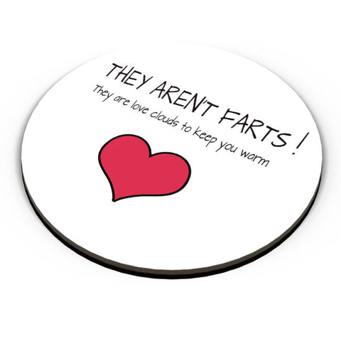 PosterGuy | They Aren't Farts | They Are The Love Clouds | Valentine's Day Pun Fridge Magnet Online India by Pooja Bindal