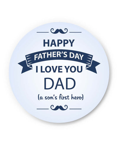 PosterGuy | I Love You Dad | Son | Father's Day Fridge Magnet 1403068219 Online India