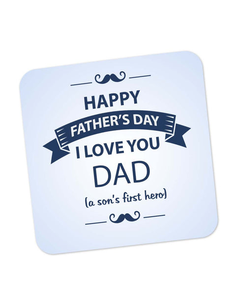 Coasters | I Love You Dad | Son | Father's Day Coaster 1403068229 Online India | PosterGuy.in