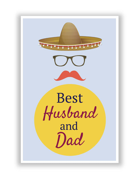 Posters | Best Husband and Dad | Father's Day Poster Online India