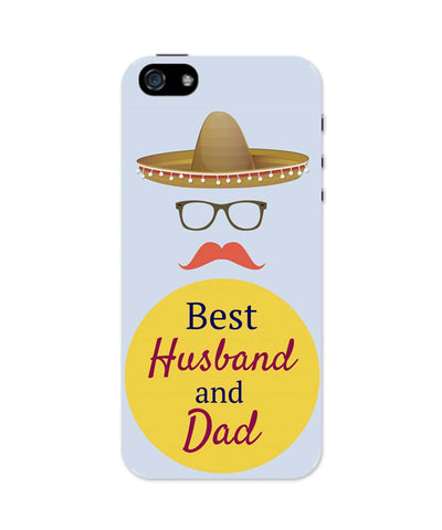 iPhone 5 / 5S Cases| Best Husband and Dad | Father's Day iPhone 5 / 5S Case 1403078217 Online India