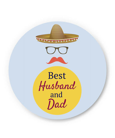 PosterGuy | Best Husband and Dad | Father's Day Fridge Magnet 1403078219 Online India