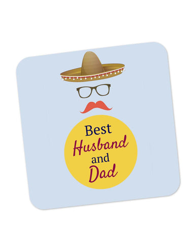 Coasters | Best Husband and Dad | Father's Day Coaster 1403078229 Online India | PosterGuy.in