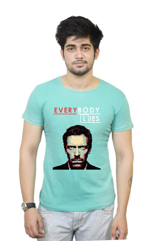 Buy Funny T-Shirts Online India | Everybody Lies | House Tv Series T-Shirt Funky, Cool, T-Shirts | PosterGuy.in