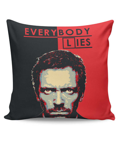 PosterGuy | Everybody Lies House M.D Illustration Cushion Cover Online India