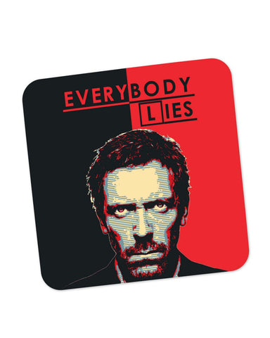 Coasters | Everybody Lies House M.D Illustration Coaster 1403097729 Online India | PosterGuy.in
