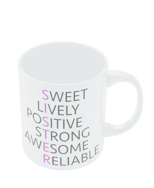 Coffee Mugs Online | SISTER Abbreviation Typography Mug Online India
