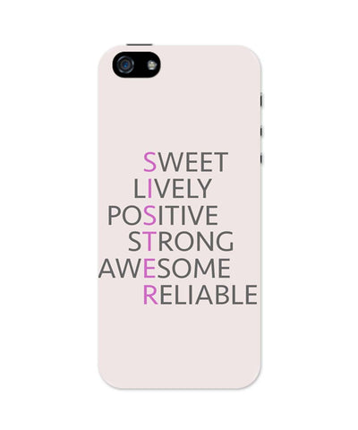 iPhone 5 / 5S Cases & Covers | SISTER Abbreviation Typography iPhone 5 / 5S Case Online India