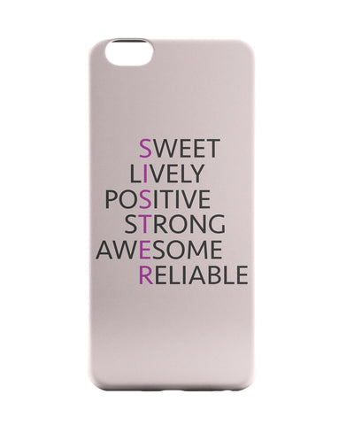 iPhone 6 Case & iPhone 6S Case | SISTER Abbreviation Typography iPhone 6 | iPhone 6S Case Online India | PosterGuy
