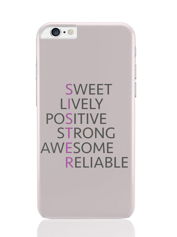 iPhone 6 Plus / 6S Plus Covers & Cases | Sister Abbreviation Typography iPhone 6 Plus / 6S Plus Covers and Cases Online India