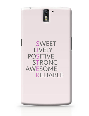 OnePlus One Covers | SISTER Abbreviation Typography OnePlus One Cover Online India