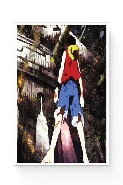 Posters Online | Luffy In Fire | One Piece Poster Online India | Designed by: Kickass Artworks