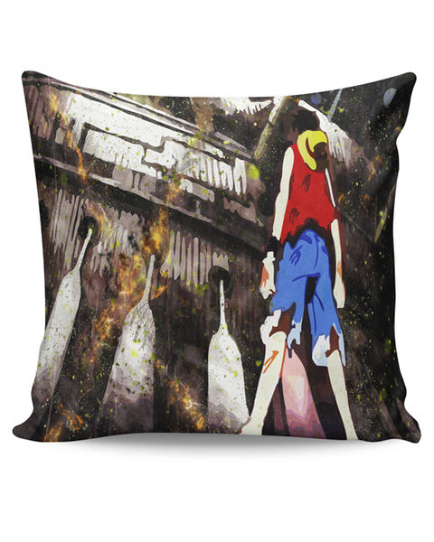 PosterGuy | Luffy In Fire | One Piece Cushion Cover Online India