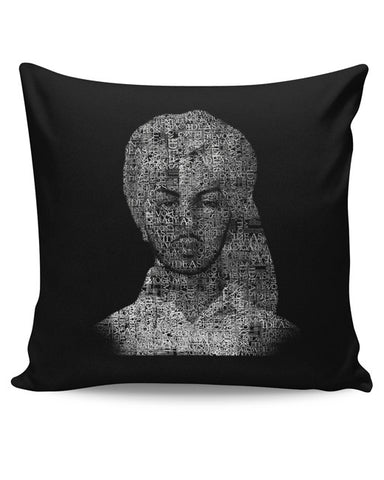 PosterGuy | Bhagat Singh Typography Illustration | Ideas Revolution Cushion Cover Online India