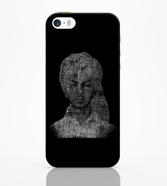 iPhone 5 / 5S Cases & Covers | Bhagat Singh Typography Illustration | Ideas Revolution iPhone 5 / 5S Case Online India