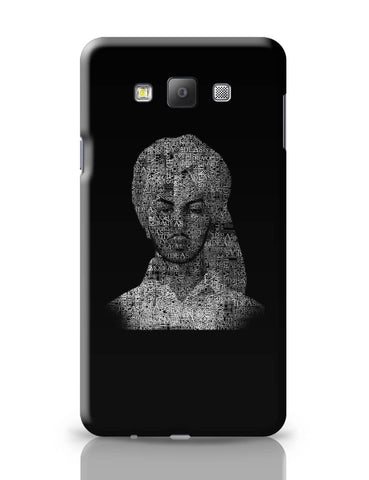 Samsung Galaxy A7 Covers | Bhagat Singh Typography Illustration | Ideas Revolution Samsung Galaxy A7 Covers Online India