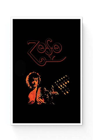 Posters Online | Jimmy Page Led Zeppelin Zoso Inspired Poster Online India | Designed by: Kickass Artworks