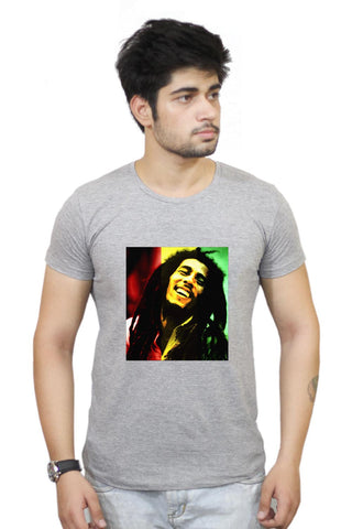 Buy Bob Marley Freedom Portrait T-Shirts Online India | Bob Marley Freedom Portrait T-Shirt | PosterGuy.in