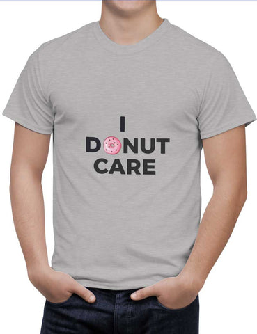 Buy I Donut Care | Quirky Donut Woman T-Shirts Online India | I Donut Care | Quirky Donut T-Shirt | PosterGuy.in