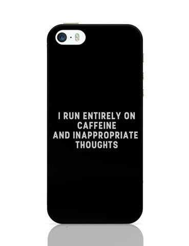 iPhone 5 / 5S Cases & Covers | I Run on Caffeine iPhone 5 / 5S Case Cover Online India