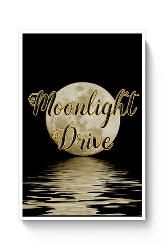 Posters Online | Moonlight Drive Illustration Poster Online India | Designed by: Kickass Artworks