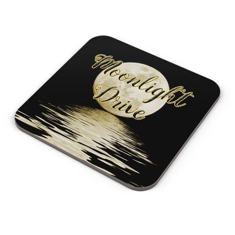 Buy Coasters Online | Moonlight Drive Illustration Coasters Online India | PosterGuy.in