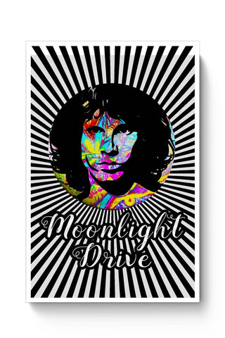 Posters Online | Jim Morrison |Psychedelic Moonlight Drive Poster Online India | Designed by: Kickass Artworks