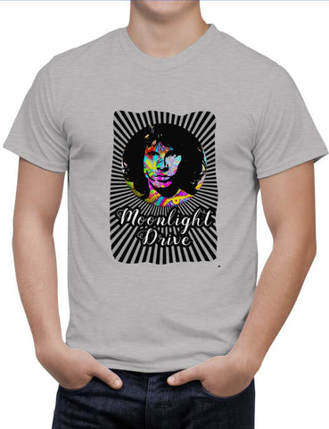 Buy Jim Morrison |Psychedelic Moonlight Drive Woman T-Shirts Online India | Jim Morrison |Psychedelic Moonlight Drive T-Shirt | PosterGuy.in