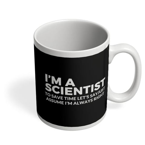 Coffee Mugs Online | scientist | save Time Funny Quote Coffee Mug Online India