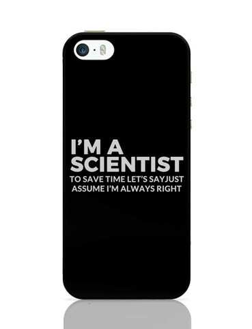 iPhone 5 / 5S Cases & Covers | scientist | save Time Funny Quote iPhone 5 / 5S Case Cover Online India