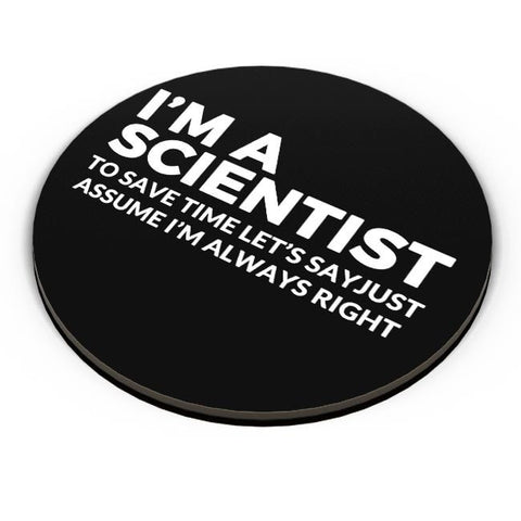 PosterGuy | scientist | save Time Funny Quote Fridge Magnet Online India by Pooja Bindal