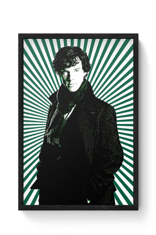 Framed Posters Online India | Sherlock Holmes Illustration Framed Poster Online India