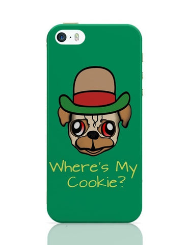 iPhone 5 / 5S Cases & Covers | Where's My Cookie | Pug Life iPhone 5 / 5S Case Cover Online India