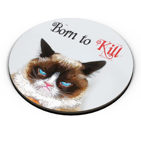 PosterGuy | Born TO Kill | Grumpy Cat Fridge Magnet Online India by Pooja Bindal