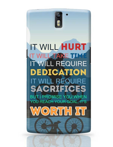 OnePlus One Covers | It Will be Worth It | Motivational OnePlus One Case Cover Online India