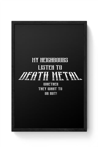 Framed Posters Online India | Death Metal Funny Sarcasm Framed Poster Online India