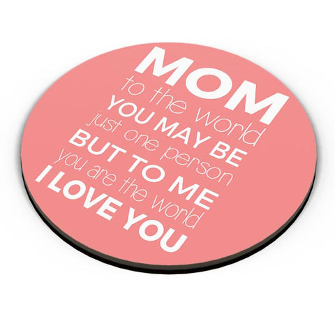 Mom ,To Me You Are The World | Mother's Day Gift Fridge Magnet Online India