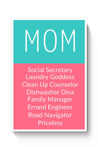 Mom Definition | Priceless | Mother's Day Gift Poster Online India