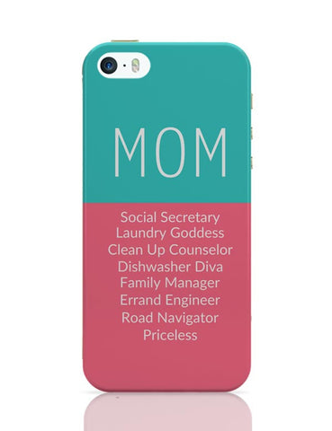 Mom Definition | Priceless | Mother's Day Gift iPhone Covers Cases Online India