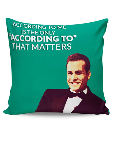 Harvey Specter Suits | According To Me Quote Cushion Cover Online India