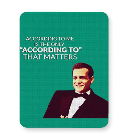 Harvey Specter Suits | According To Me Quote Mousepad Online India