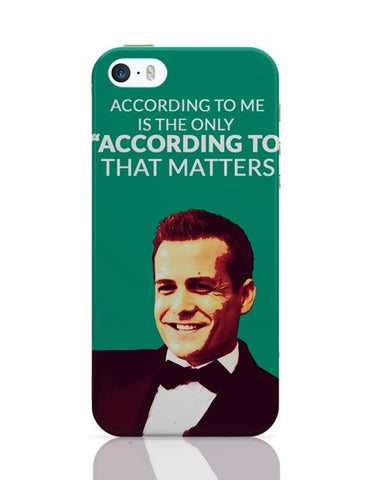 Harvey Specter Suits | According To Me Quote iPhone Covers Cases Online India
