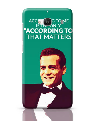 Harvey Specter Suits | According To Me Quote Redmi 2 / Redmi 2 Prime Covers Cases Online India