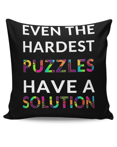 Even The Hardest Puzzles Have Solution Cushion Cover Online India