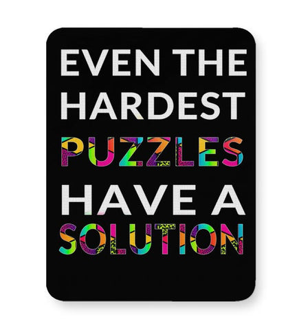 Even The Hardest Puzzles Have Solution Mousepad Online India