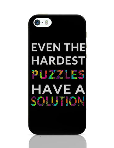 Even The Hardest Puzzles Have Solution iPhone Covers Cases Online India